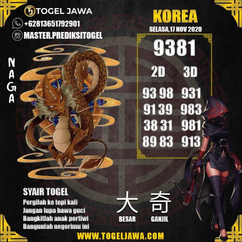 Prediksi Korea Tanggal 2020-11-17