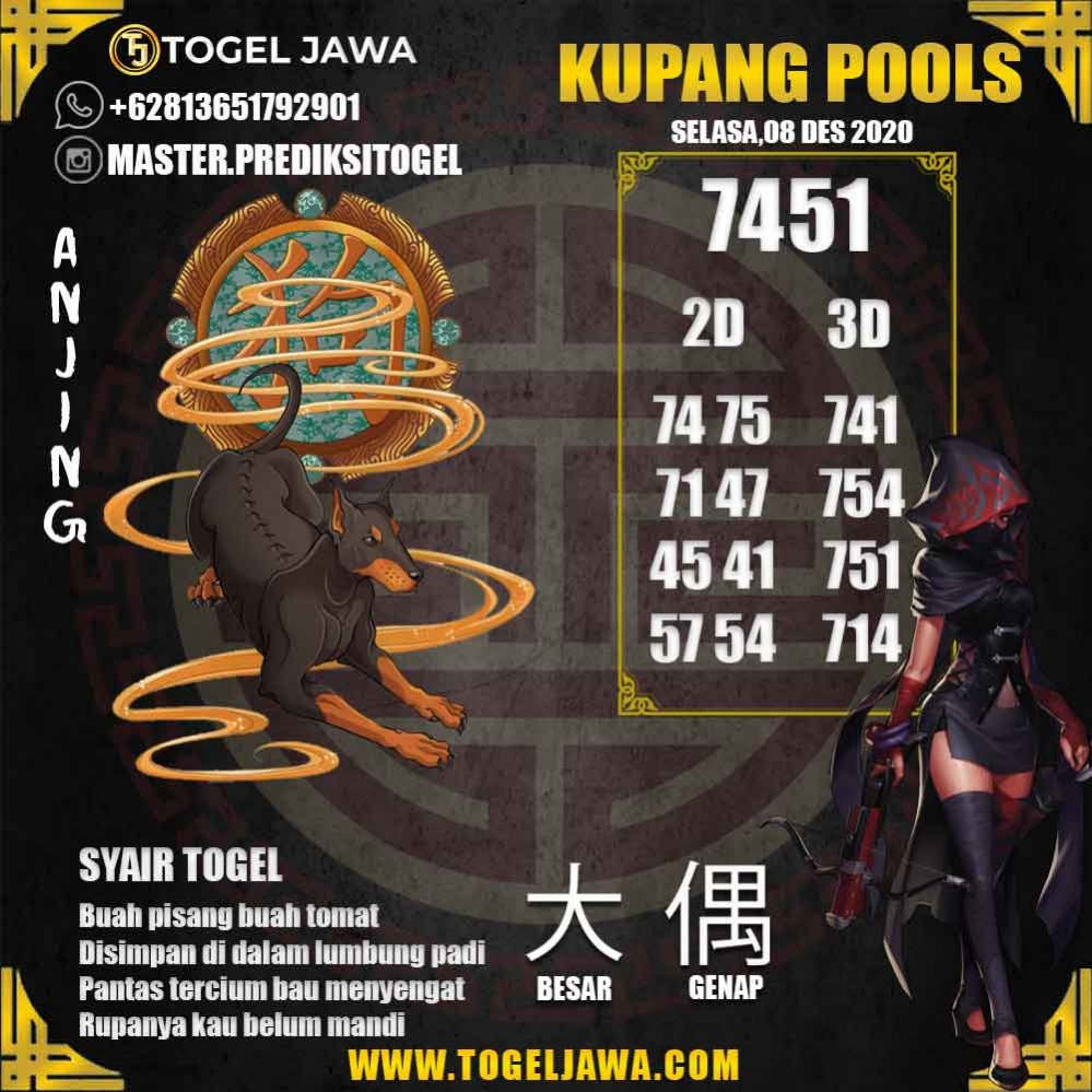 Prediksi KupangPool Tanggal 2020-12-08