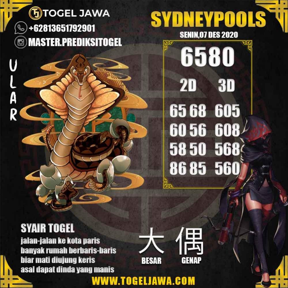 Prediksi Sydney Tanggal 2020-12-07